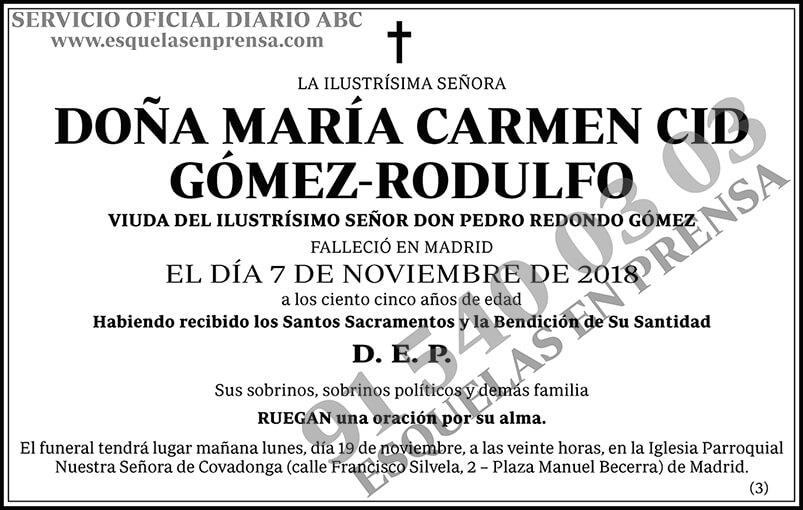 María Carmen Cid Gómez-Rodulfo